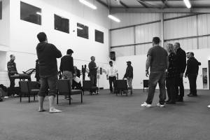 Rehearsal still, Good Friday b&w2