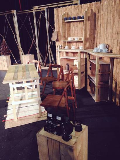 The 1950's missionary-house kitchen set, built by our very own Jon Buckeridge.