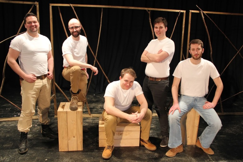 Jon and Pete with the other male cast-members: Rob Holman, Matt Ford, and Ollie Ward.